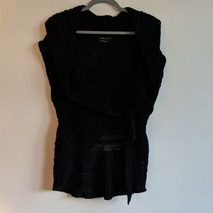 BCBG Max Azria knitted belted Vest Lg